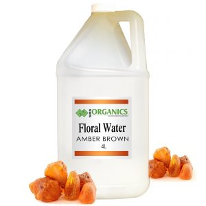 Amber Brown Floral Water Organic